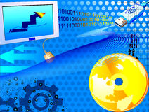 Mondo di commercio elettronico Fotografie Stock Libere da Diritti