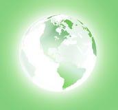 Mondo di cristallo verde illustrazione vettoriale