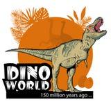Mondo di Dino Immagine Stock