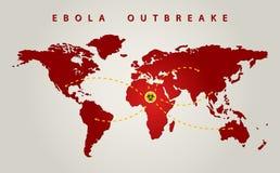 Mondo di ebola Fotografia Stock Libera da Diritti