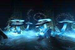Mondo di favola del ghiaccio Fotografie Stock