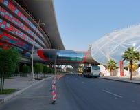 Mondo di Ferrari del centro di spettacolo in Abu Dhabi Immagine Stock