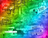 Mondo di Internet Fotografie Stock Libere da Diritti