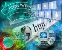Mondo di Internet Immagine Stock
