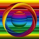 Mondo di pittura, mondo dei colori Fotografia Stock