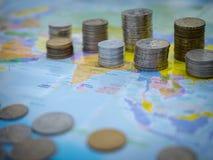 Mondo di soldi Immagini Stock Libere da Diritti
