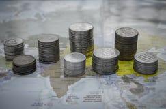 Mondo di soldi Fotografie Stock