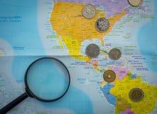 Mondo di soldi Fotografia Stock Libera da Diritti