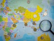 Mondo di soldi Fotografia Stock