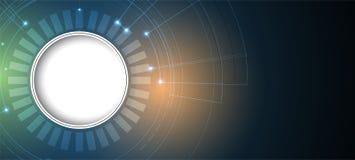 Mondo di tecnologia digitale Concetto virtuale di affari Backg di vettore Immagine Stock