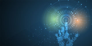 Mondo di tecnologia digitale Concetto virtuale di affari Backg di vettore Immagini Stock Libere da Diritti