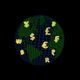 Mondo di valuta Immagini Stock