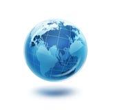 Mondo di vetro blu Fotografie Stock