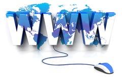 Mondo di WWW Fotografie Stock