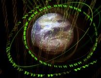 mondo digitale 3D Fotografia Stock