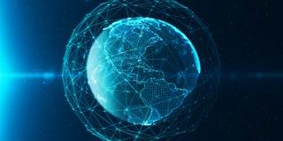 Mondo digitale del globo di ommunication del ¡ di Ð illustrazione di stock