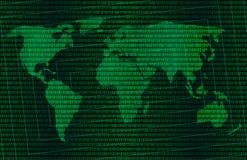 Mondo digitale verde Fotografia Stock Libera da Diritti