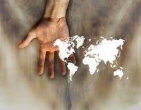 Mondo a disposizione Fotografie Stock Libere da Diritti