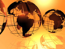 Mondo e cielo Immagine Stock Libera da Diritti