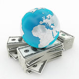 Mondo e finanze dei soldi illustrazione vettoriale