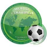 Mondo e gioco del calcio illustrazione di stock