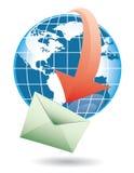 Mondo e posta Immagine Stock