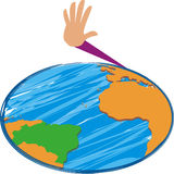 Mondo e una mano royalty illustrazione gratis