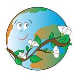 Mondo ecologico felice Fotografia Stock Libera da Diritti