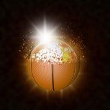 Mondo ed esplosione di pallacanestro Fotografia Stock