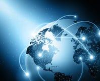 Mondo ed indicatori luminosi Immagini Stock Libere da Diritti