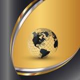 Mondo elegante dell'oro Fotografia Stock