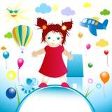 Mondo felice royalty illustrazione gratis