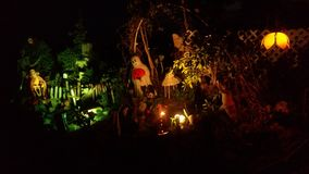 Mondo/giardino di Halloween Fotografie Stock Libere da Diritti
