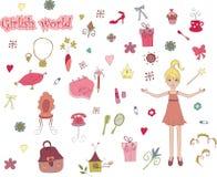 Mondo Girlish royalty illustrazione gratis
