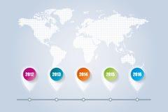 Mondo infographic Illustrazione di Stock