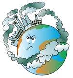 Mondo inquinante Immagine Stock Libera da Diritti
