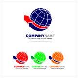 Mondo Logo Design Template Fotografie Stock Libere da Diritti