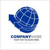 Mondo Logo Design Template Immagine Stock Libera da Diritti
