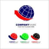 Mondo Logo Design Template, affare Fotografia Stock Libera da Diritti
