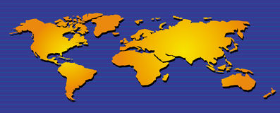 Mondo Map05 Immagini Stock