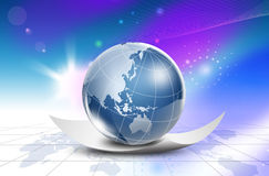 Mondo mappa-Australia di tecnologia Fotografie Stock