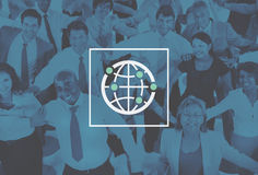 Mondo mondiale internazionale della Comunità globale collegato Immagine Stock Libera da Diritti