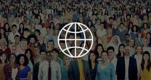 Mondo mondiale internazionale della Comunità globale collegato Fotografia Stock Libera da Diritti