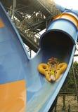 Mondo Monsoon Thrill Ride em embebe a cidade, reis Ilha imagens de stock