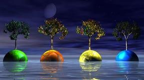 Mondo multicolore Fotografia Stock