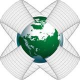 Mondo nella rete illustrazione vettoriale