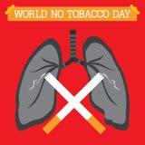 Mondo nessun giorno del tabacco Fotografia Stock Libera da Diritti