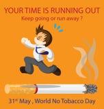 Mondo nessun giorno del tabacco Immagine Stock Libera da Diritti