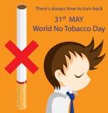 Mondo nessun giorno del tabacco Immagine Stock
