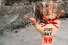 Mondo nessun giorno del tabacco 31 maggio giorno non fumatori Veleno della sigaretta Fotografia Stock Libera da Diritti